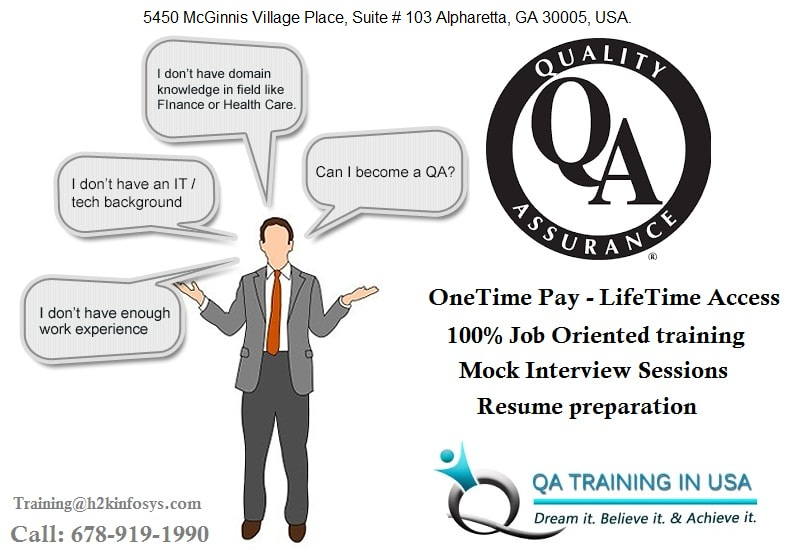 Quality Assurance Online Training in USA with Job